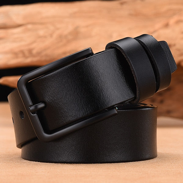 Male leather belt