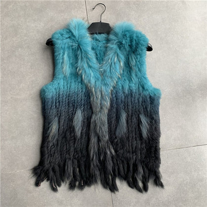 womens natural real  rabbit fur