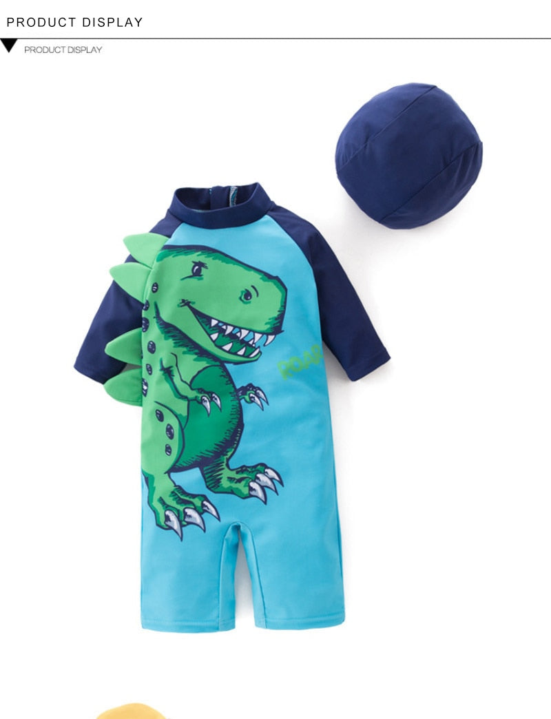 Boy Baby Swimwear+Hat