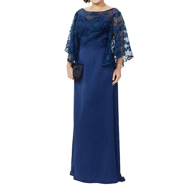 Lace Long Floor Length Mother Dress