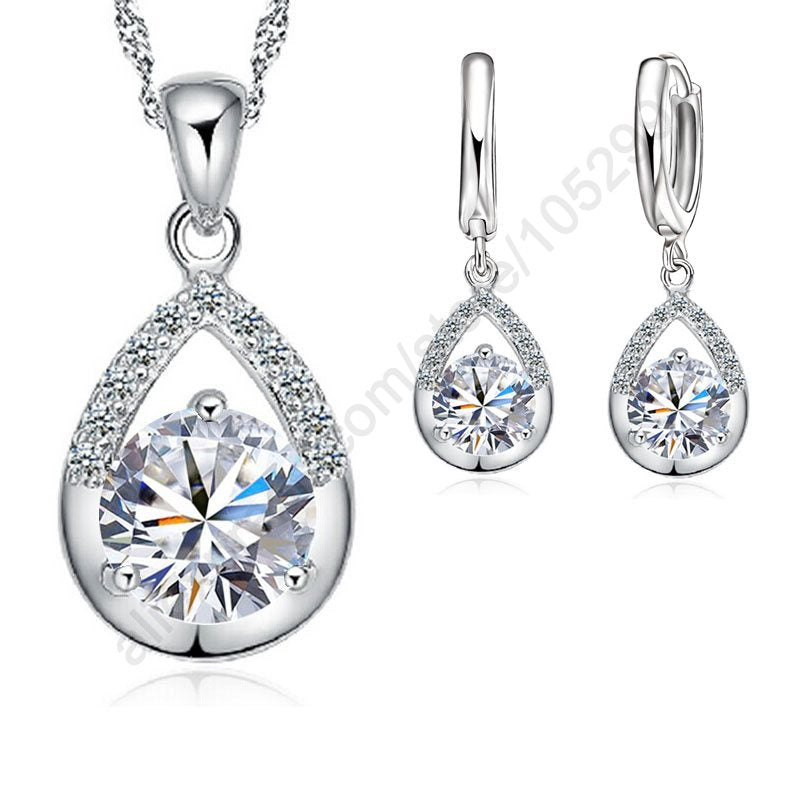 Sterling Silver Bridal Jewelry Set