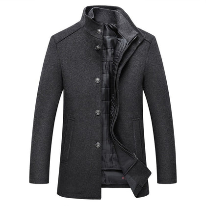 Wool Coat Men Thick Overcoats