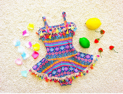 One Piece Kids Swimwear for Girls Print
