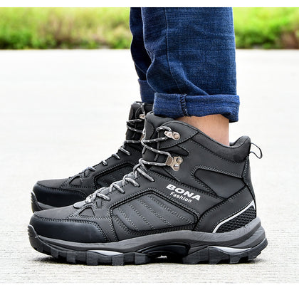 Men Boots Anti-Skidding Leather