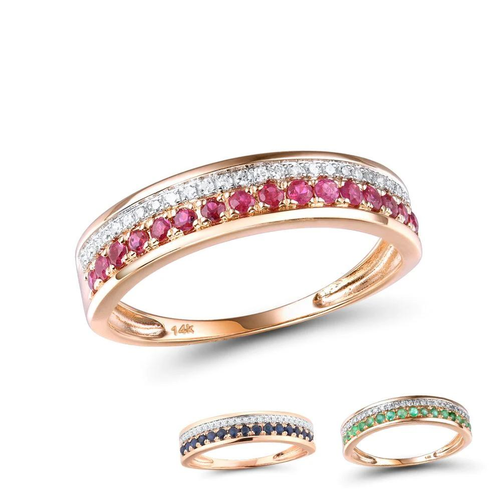 Rose Gold Rings For Lady Genuine Shiny