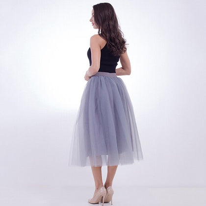 Summer Tulle Skirt Voile Puffy
