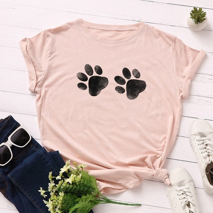 Cotton Plus Size T-shirt Graphic Tee
