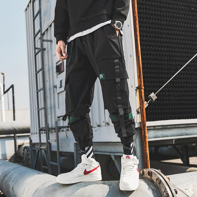 Ribbons Streetwear Cargo Pants