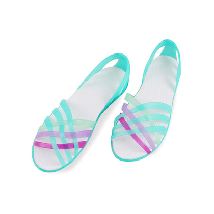 Women Jelly Shoes Rainbow Summer Sandals