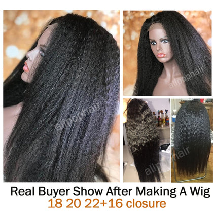 Kinky Straight Hair Peruvian Hair Bundles