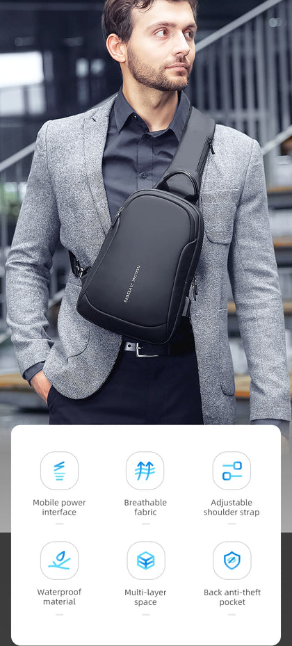 Multifunction Crossbody Men Bags
