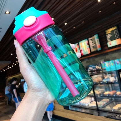 Water Bottle With Straw Plastic
