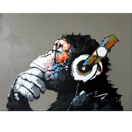 Abstract Monkey DIY Painting By Home Wall