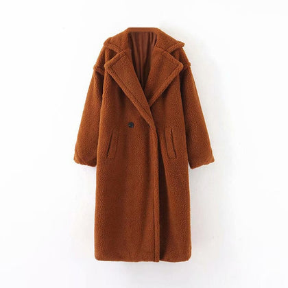 Winter Casual Solid Teddy Coat Women