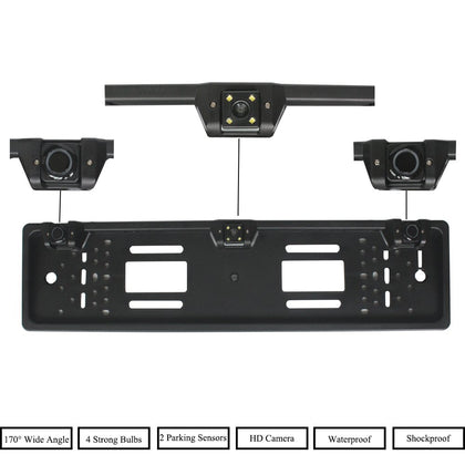Auto Assistance European License Plate Frame