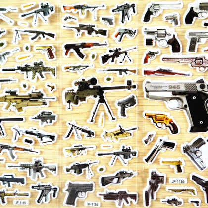 world famous gun stickers