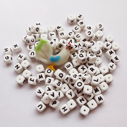 teething Bead Hollow Alphabet Star