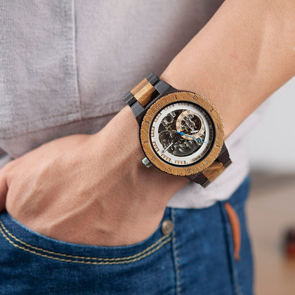 Wooden Mechanical Watch Men