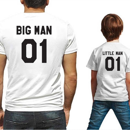 family matching clothes big litter man tshirt daddy