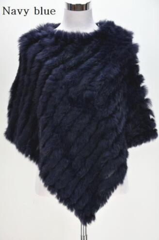 Women's Knitted Poncho Fur