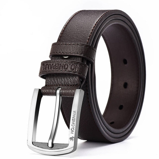 genuine leather luxury strap male belts