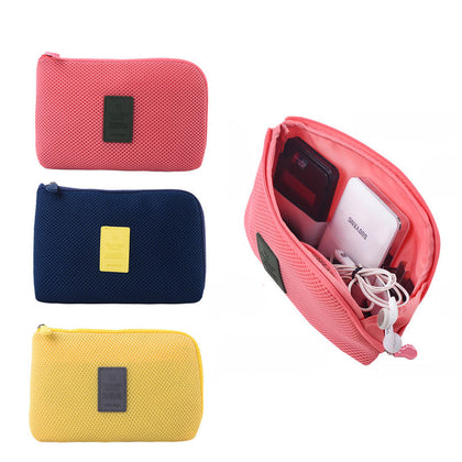Travel storage box for digital data cable charger