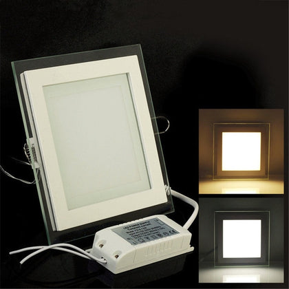 Dimmable LED Panel Downlight Square Glass