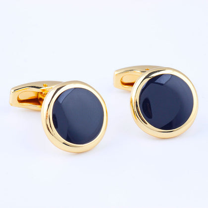 Luxury Fashion Black Round Plated