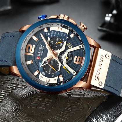 Casual Sport Watches for Men Blue Top