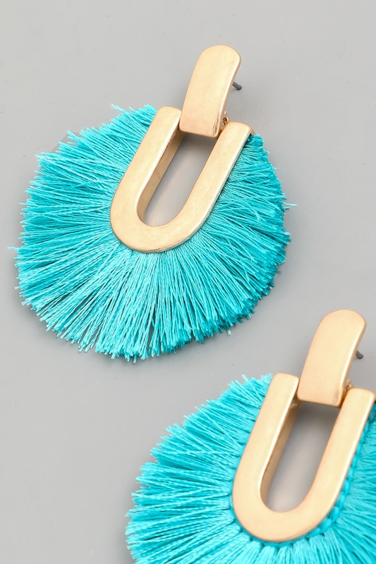 Circle Tassel Fan Earrings
