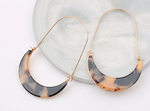 Load image into Gallery viewer, Crescent Long Drop Earrings