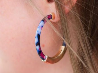 Colorful Acrylic Hoops (other colors available)