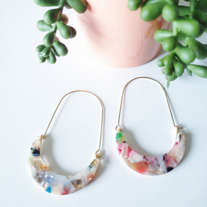 Crescent Long Drop Earrings