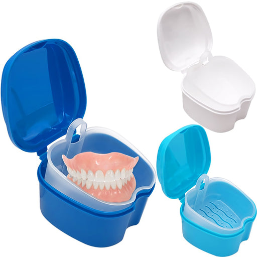 Compact Denture Storage Box With Strainer