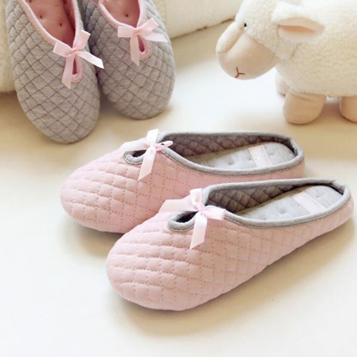 Lovely Cotton Bowtie Home Slippers