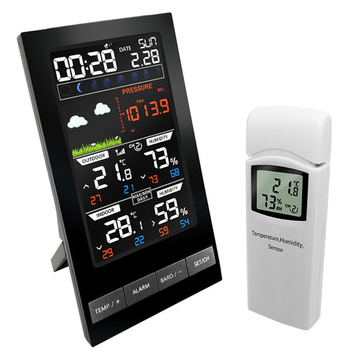 Colorful LCD Display Wireless Weather Station Forecast