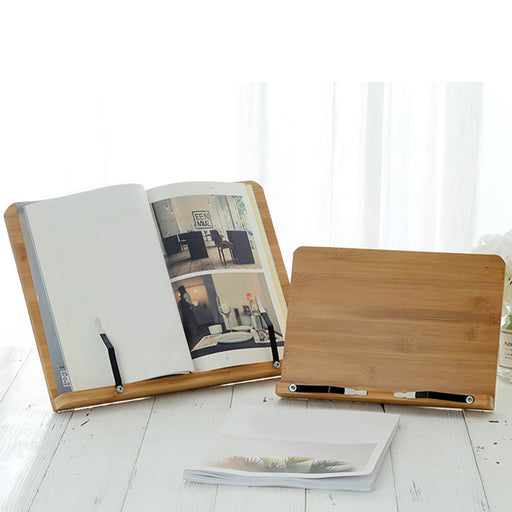 Foldable And Portable Bamboo Book Stand