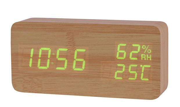 Alarm Clocks And Watches - LED Wooden Multi-Function Alarm Clock