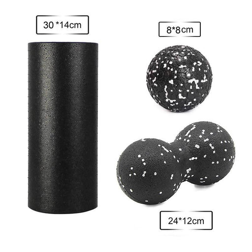 Balls For Physiotherapy - Foam Roller Massage Peanut Ball Set