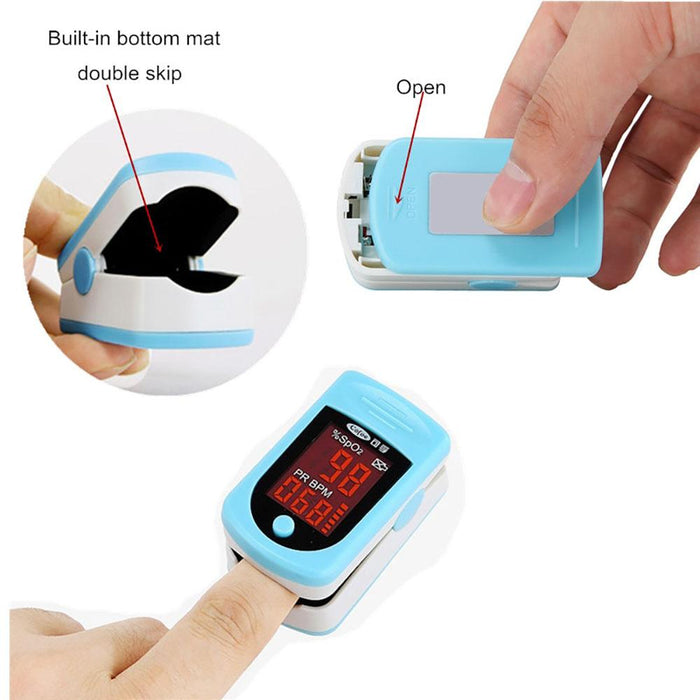 Blood Pressure Monitors - Portable Finger Clip Type Pulse Oximeter