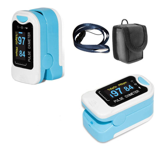 Blood Pressure Monitors - Portable Fingertip Pulse Oximeter Blood Oxygen LED Display