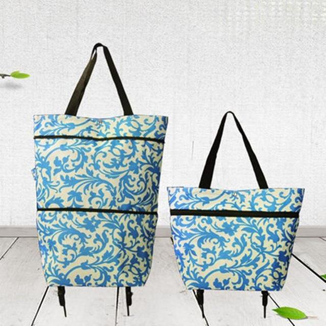 Folding Shopping Carts - Shopping Organizer Trolley Bag