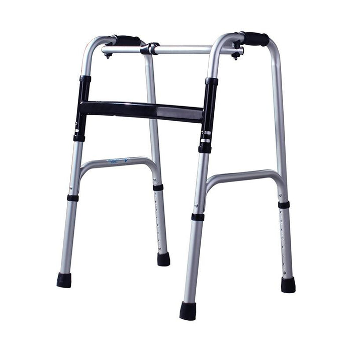 Folding Walker - Four Foot Foldable Aluminum Alloy Walker