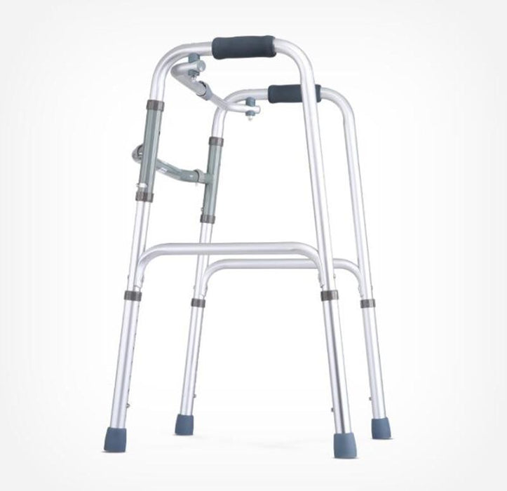 Folding Walker - Four-Legged Crutch Walking Aid