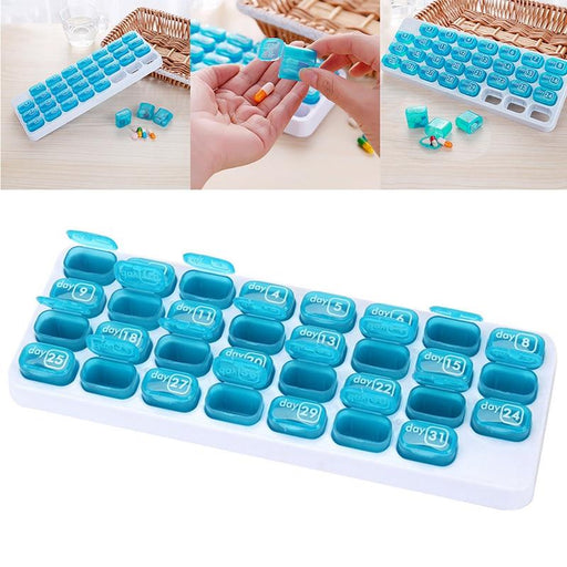 Pills Organizer - 31 Grids 1 Month Pill Box