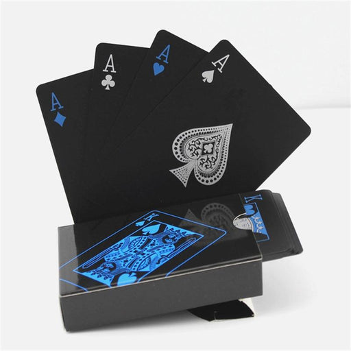 Playing Card - 2 Boxes Waterproof Black Playing Cards