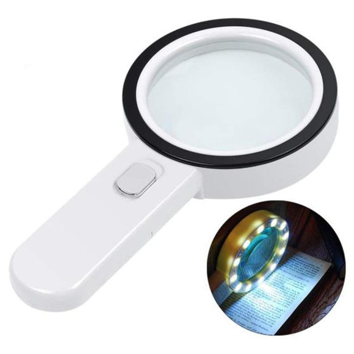 LED Optical Magnifying Glass Lens