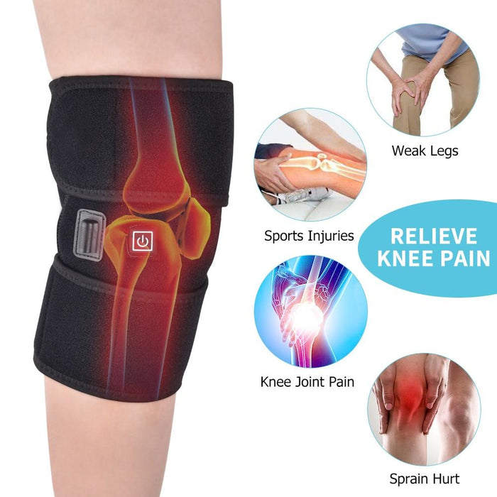 Rehabilitation Of The Leg - Physiotherapy Heating Knee Brace