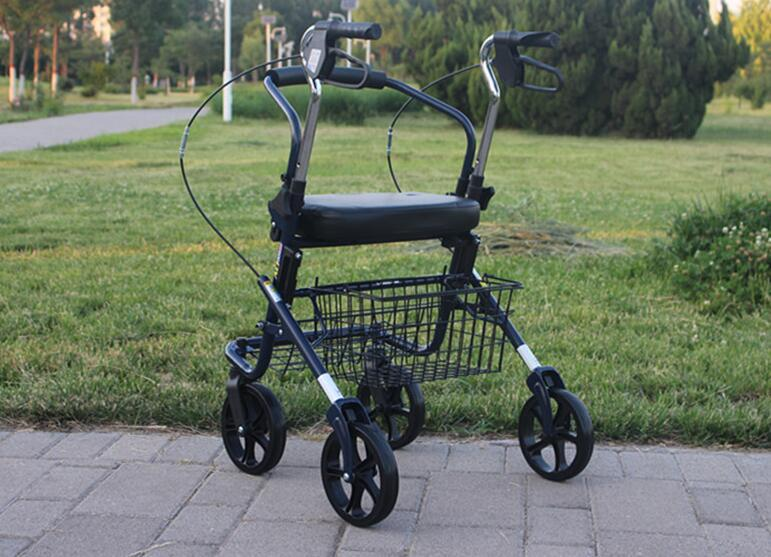 Rollator Walker - Portable Shopping Rollator Wheelchair