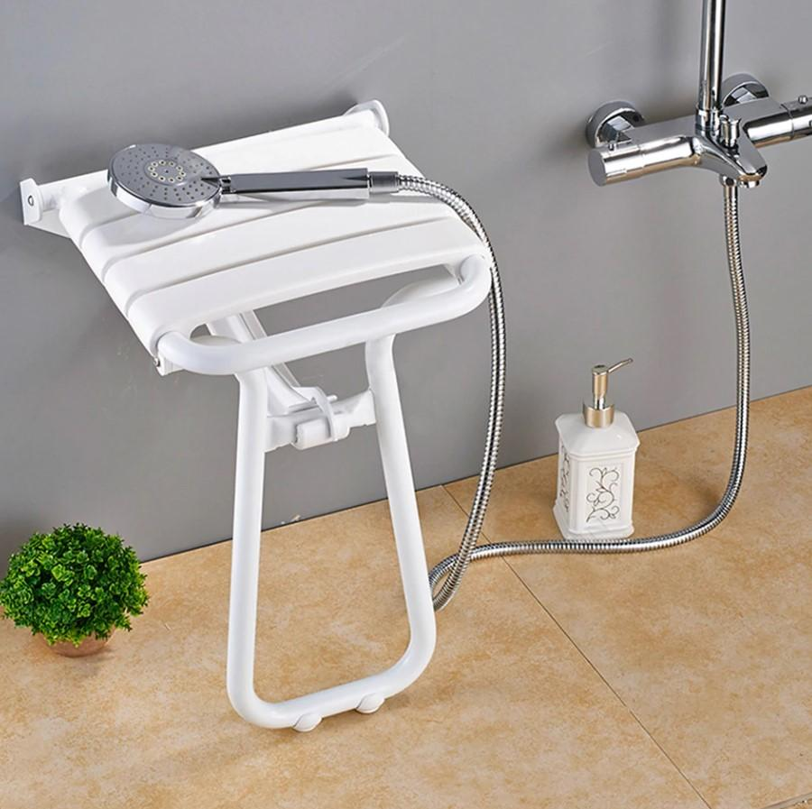 Shower Seats - Wall Mounted Folding Shower Seat With Legs